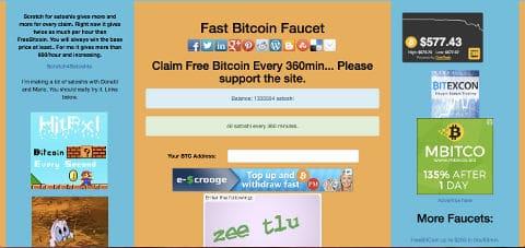 Bezpłatny kran bitcoin lista